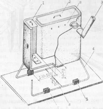 Схема напольной печки: 1